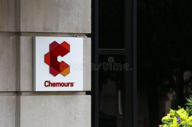 Le sedi di Chemours Company fotografia stock