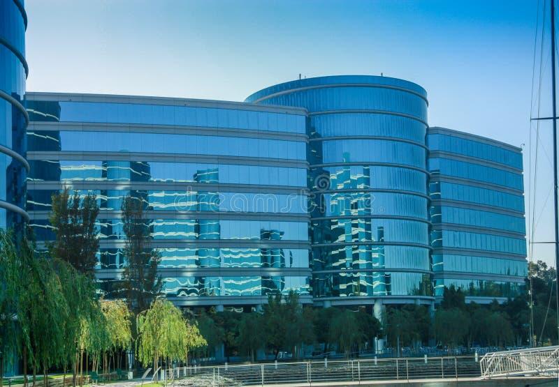 Le sedi di Oracle situate a Redwood City immagini stock