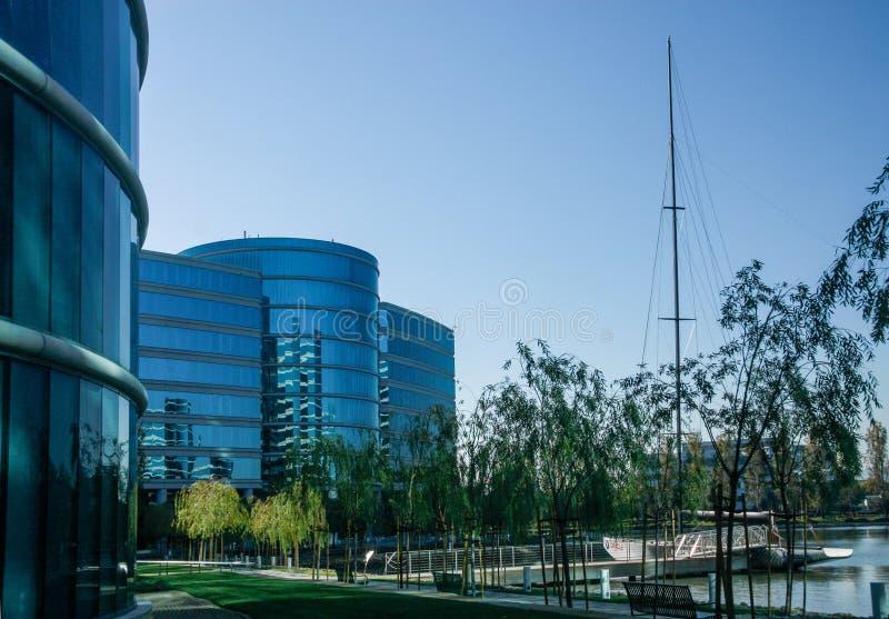 Le sedi di Oracle situate a Redwood City fotografia stock