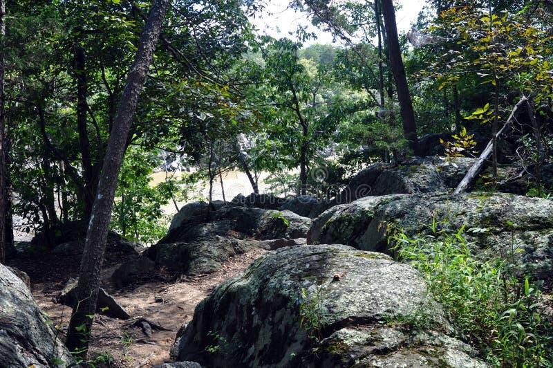 Le sentier de randonnée donnant sur la rivière photographie stock