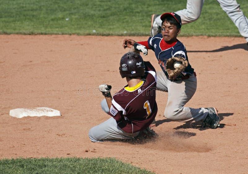 Le serie di mondo maggiori di baseball della lega chiudono il gioco fotografie stock