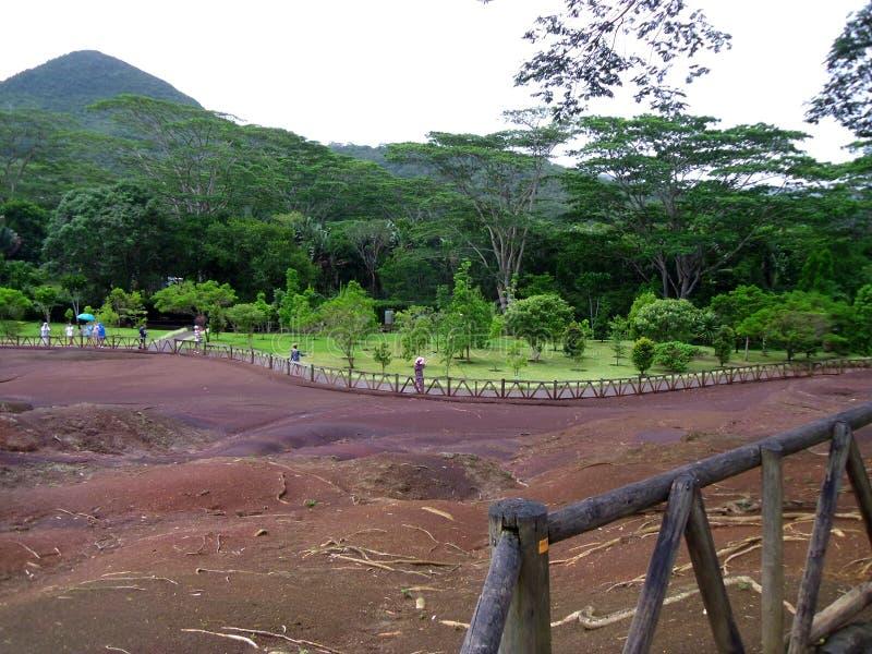 Le sette terre colorate in Mauritius fotografia stock libera da diritti