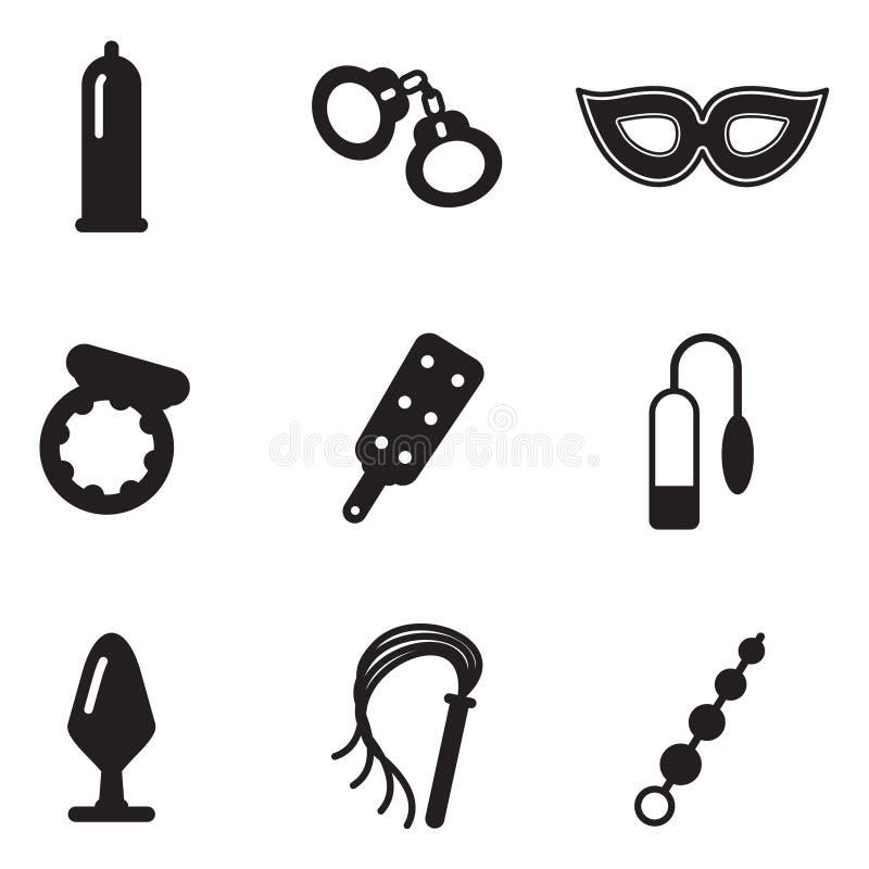 Le sexe adulte joue des icônes illustration libre de droits