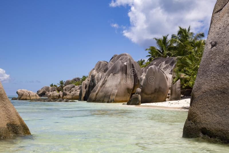 Le Seychelles tipiche immagine stock libera da diritti