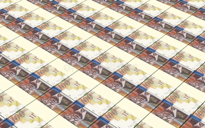 Le shekel israélien affiche le fond de piles illustration de vecteur