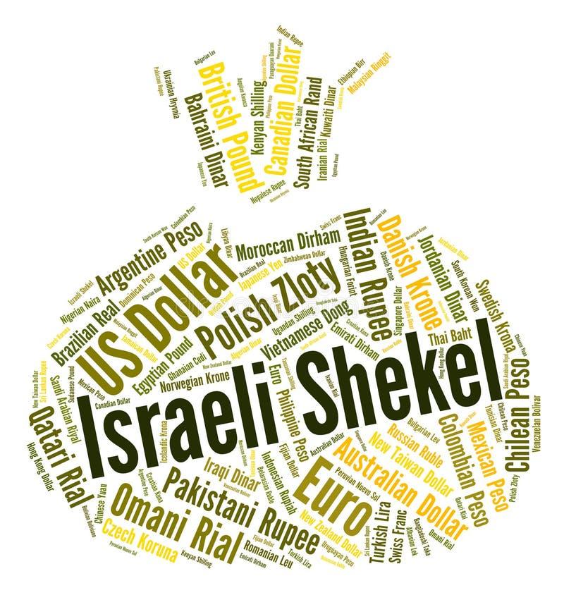 Le shekel israélien représente de devises étrangères et des devises illustration libre de droits