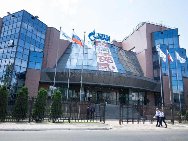 Le siège d'une grande société russe Gazprom image libre de droits