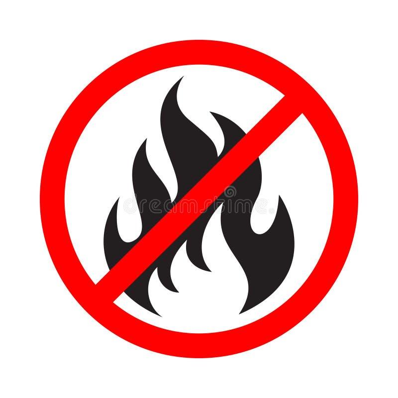 Le signe d'interdiction ne font pas le feu illustration stock