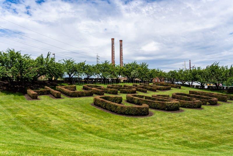 Le signe de Bush de cacao d'usine de sucrerie de Hershey photos libres de droits