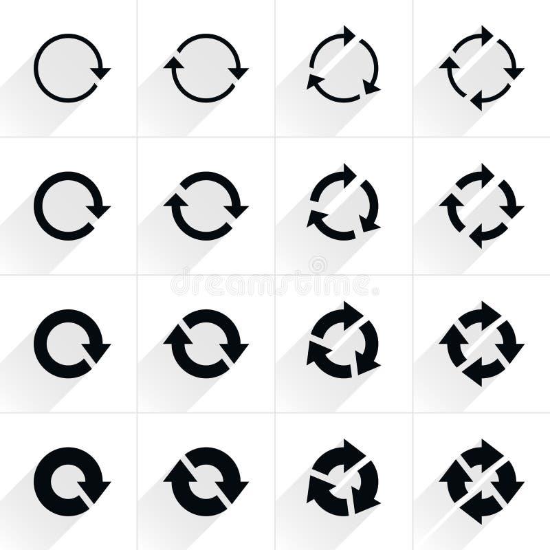 Le signe de flèche régénèrent, rotation, remise, icône de répétition image libre de droits