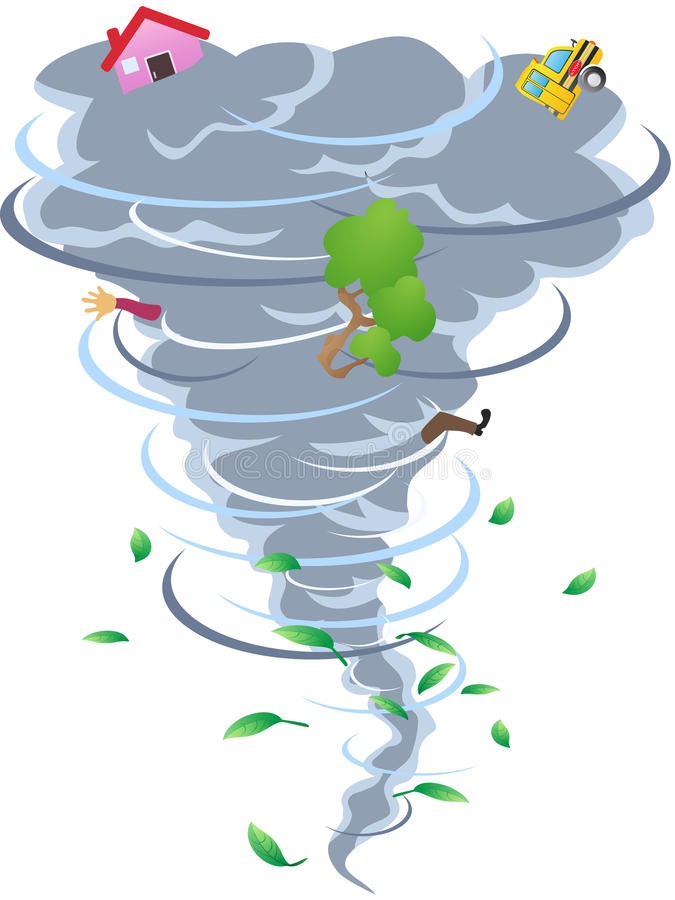 Le signe de la tornade illustration stock