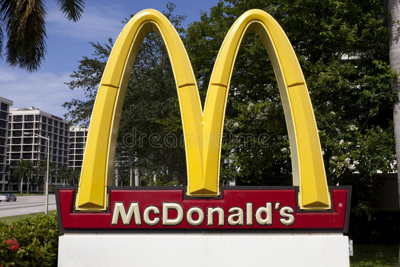 Le signe de McDonald image libre de droits