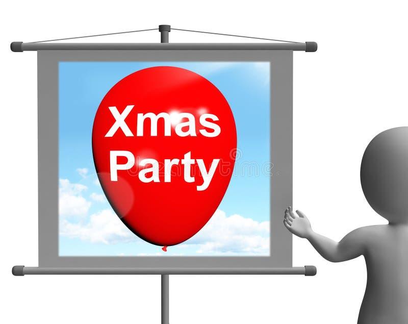 Le signe de partie de Noël montre la festivité et la célébration de Noël illustration de vecteur