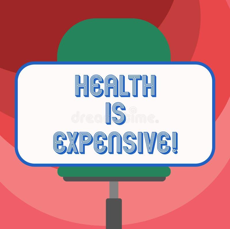 Le signe des textes montrant la santé est cher La photo conceptuelle salut le corps mangent le sport sain de jeu pour empêcher le illustration stock