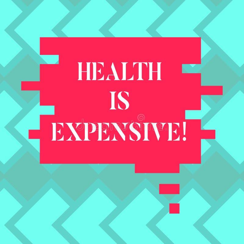 Le signe des textes montrant la santé est cher La photo conceptuelle salut le corps mangent le sport sain de jeu pour empêcher la illustration de vecteur