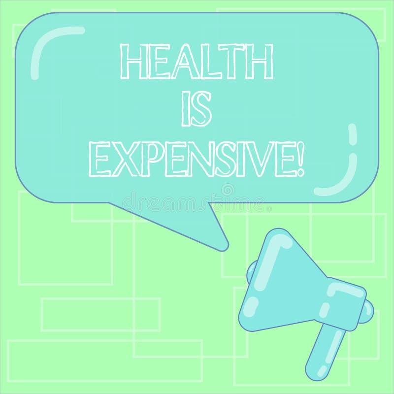 Le signe des textes montrant la santé est cher La photo conceptuelle salut le corps mangent le sport sain de jeu pour empêcher le illustration libre de droits
