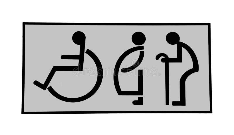 Le signe des toilettes illustration libre de droits