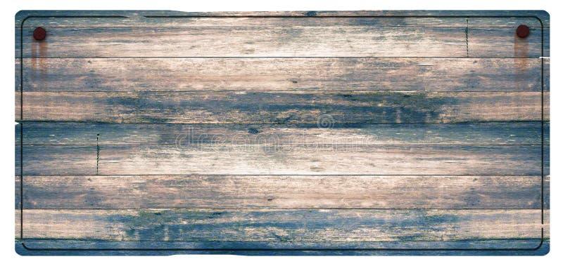 Le signe en bois s'est rouillé des clous photos stock
