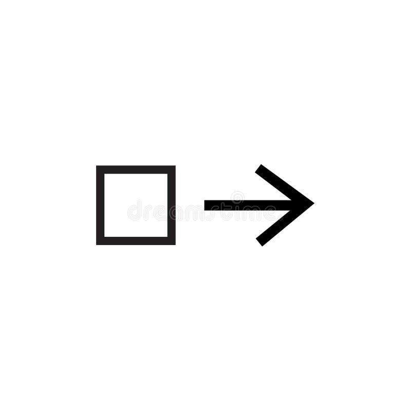 Le signe et le symbole de vecteur d'icône de droite d'entrave d'isolement sur le fond blanc, traînent le bon concept de logo illustration libre de droits