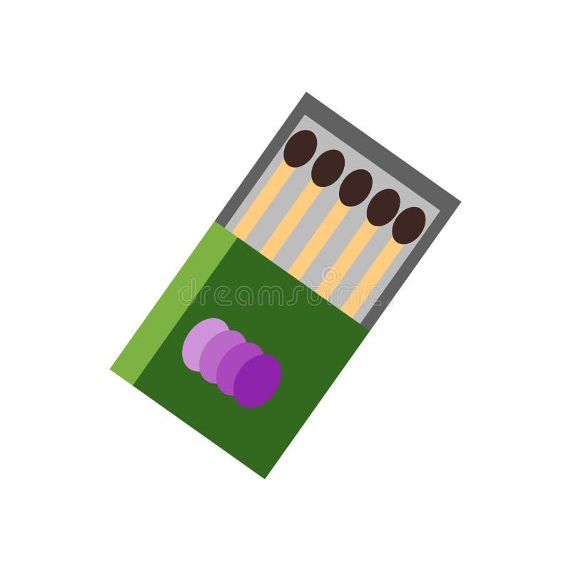Le signe et le symbole de vecteur d'icône de matchs d'isolement sur le fond blanc, assortit le concept de logo illustration libre de droits
