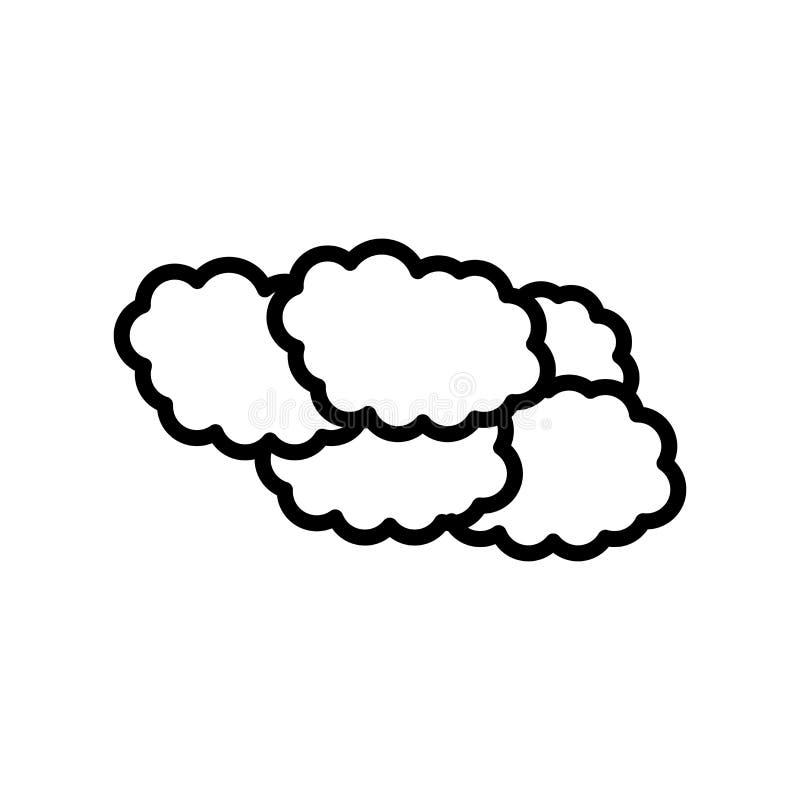 Le signe et le symbole de vecteur d'icône de nuages d'isolement sur le fond blanc, opacifie le concept de logo illustration de vecteur