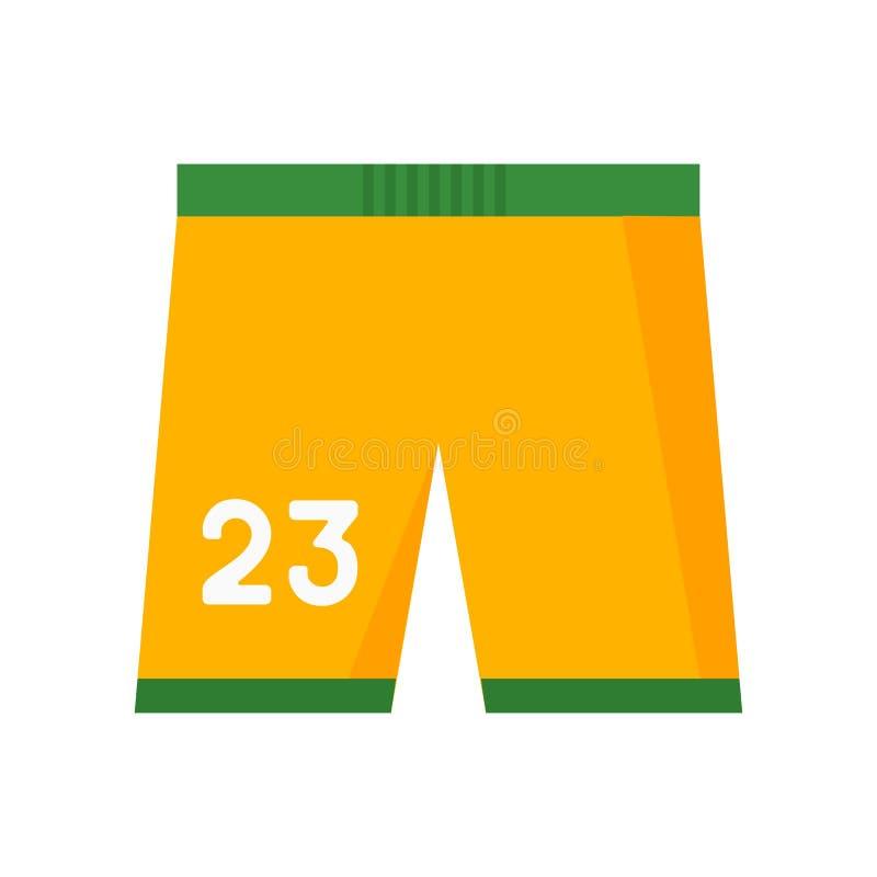 Le signe et le symbole de vecteur d'icône de shorts d'isolement sur le fond blanc, court-circuite le concept de logo illustration stock