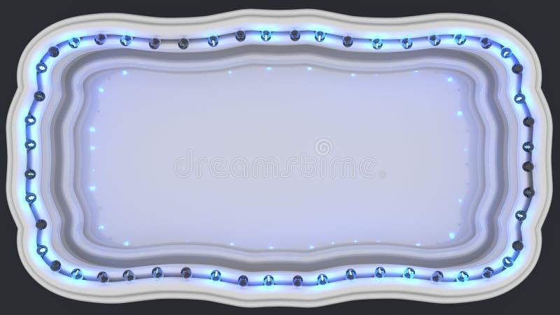 Le signe léger 3D de panneau de chapiteau rendent illustration stock