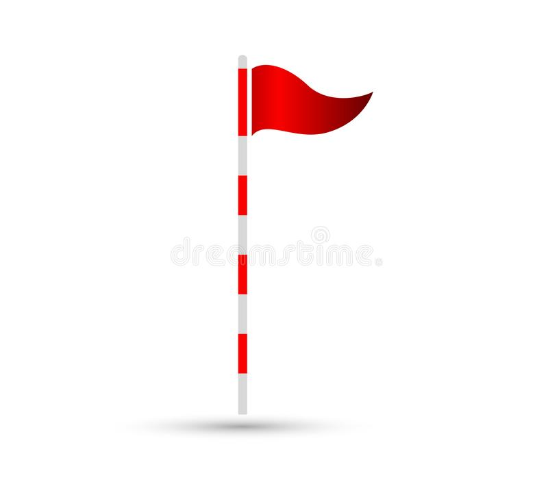Le signe plat d'icône de vecteur de drapeau de golf, facilement peut être édité illustration libre de droits