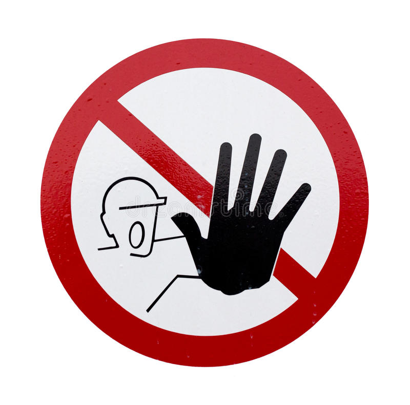 Le signe sans accès photo libre de droits