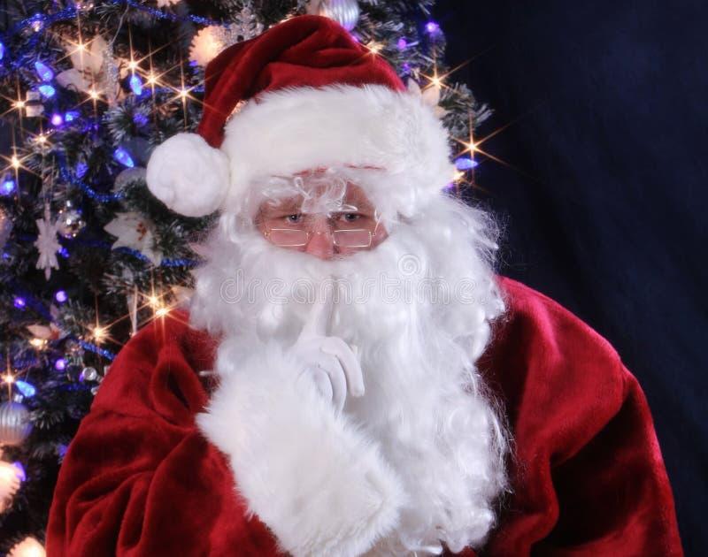 Le silence indique Santa photographie stock libre de droits