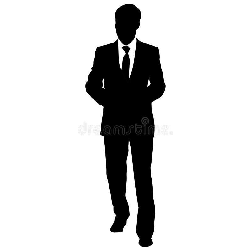 Le siluette nere di bello equipaggia su fondo bianco royalty illustrazione gratis