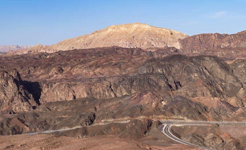 Le Sinai du nord des montagnes d'Eilat en Israël images stock