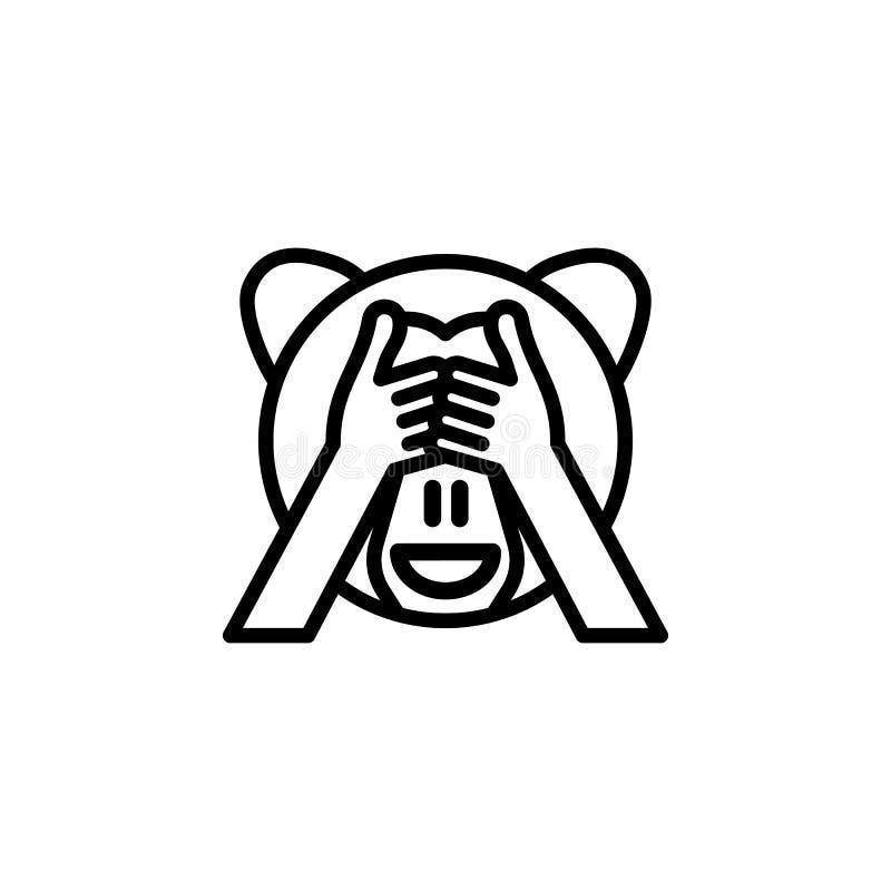 Le singe n'a pas vu l'icône d'ensemble Des signes et les symboles peuvent ?tre employ?s pour le Web, logo, l'appli mobile, UI, UX illustration de vecteur