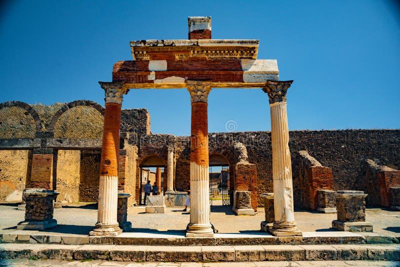Le site antique célèbre de Pompeii, près de Naples image stock