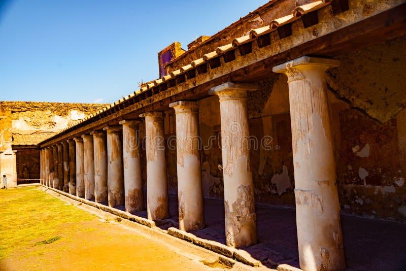 Le site antique célèbre de Pompeii, près de Naples image libre de droits
