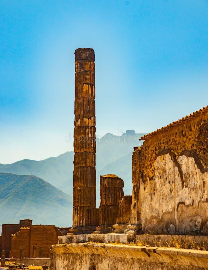 Le site antique célèbre de Pompeii, près de Naples images libres de droits