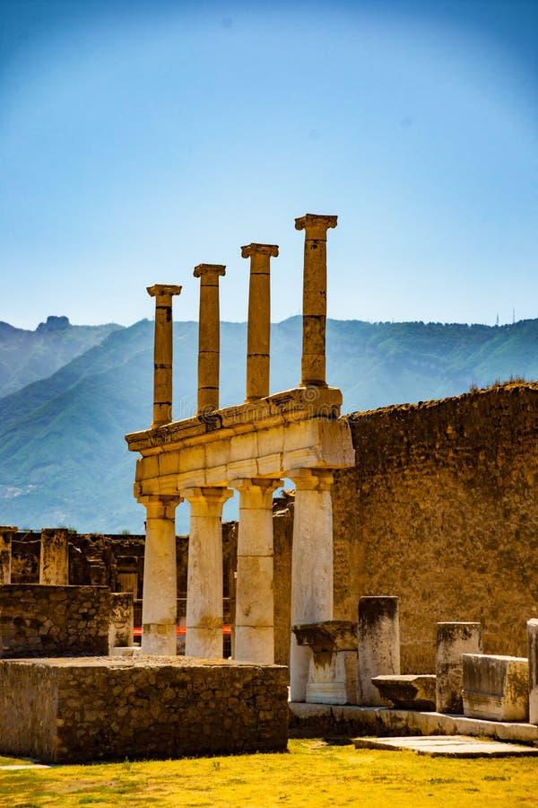 Le site antique célèbre de Pompeii, près de Naples photographie stock libre de droits
