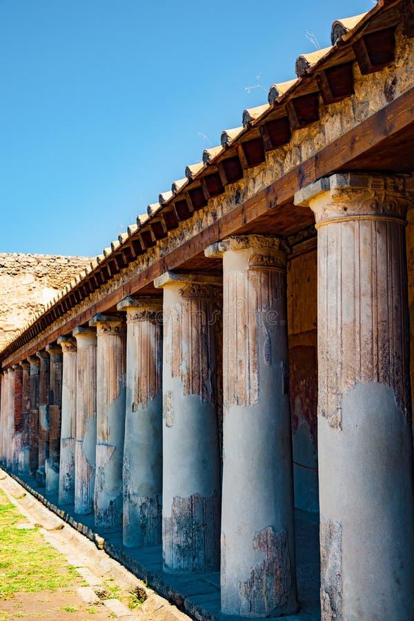 Le site antique célèbre de Pompeii, près de Naples images stock