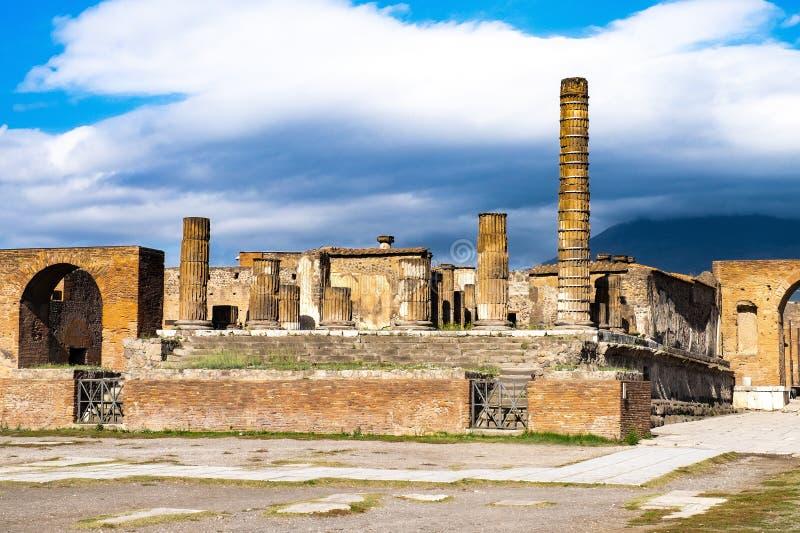 Le site antique célèbre de Pompeii, près de Naples Attractions touristiques en Italie photo libre de droits