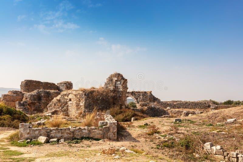 Le site archéologique de Miletus une ville du grec ancien sur la côte occidentale d'Anatolie photographie stock