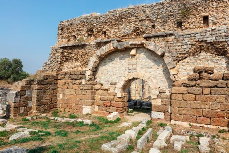 Le site archéologique de Miletus une ville du grec ancien sur la côte occidentale d'Anatolie image libre de droits