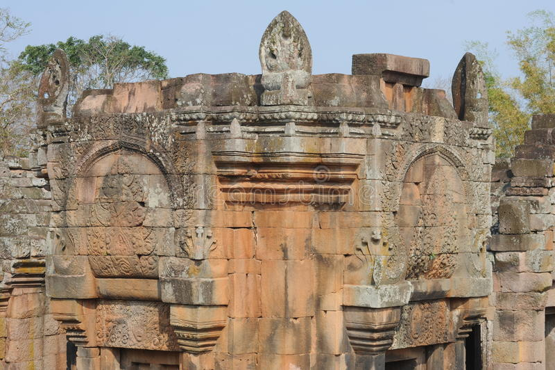 Le site archéologique de l'échelon de Phnom images libres de droits