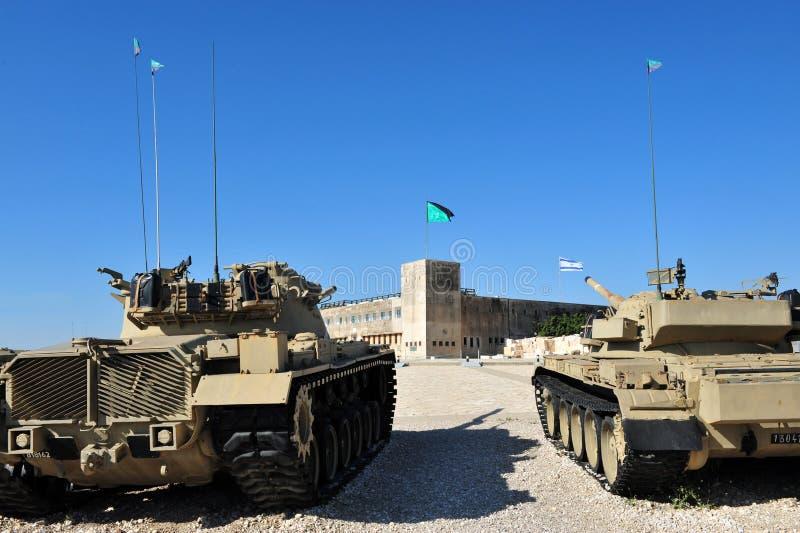 Le site commémoratif de corps blindés israéliens et chez Latrun photos libres de droits