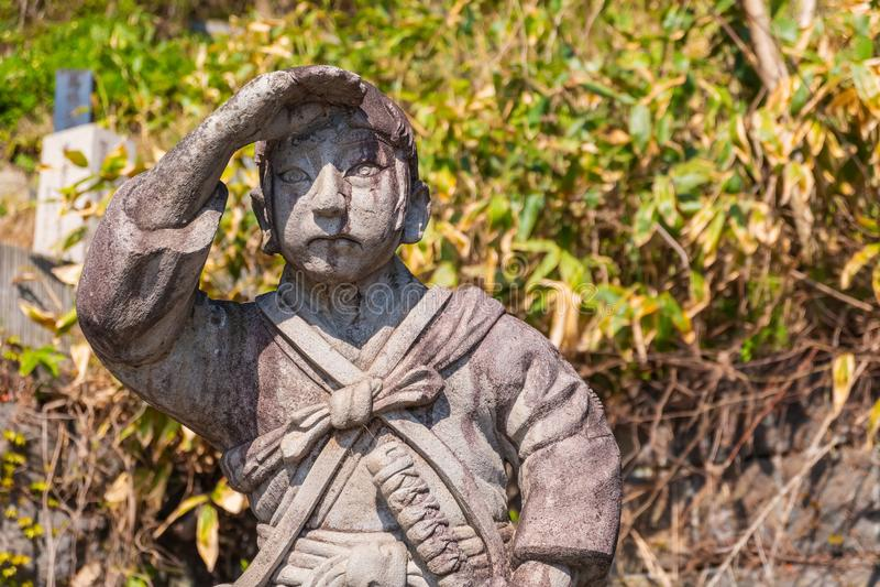 Le site grave de Byakkutai dans Aizuwakamatsu, Japon photographie stock