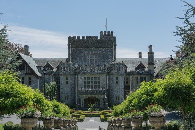 Le site historique national de château de Hatley est situé dans Colwood, Britannique photos stock