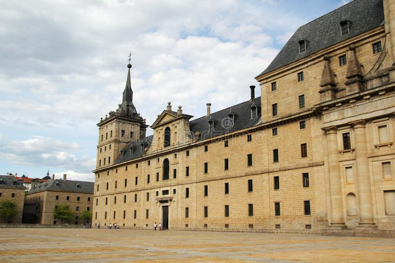 Le site royal de San Lorenzo de El Escorial, Espagne photos stock