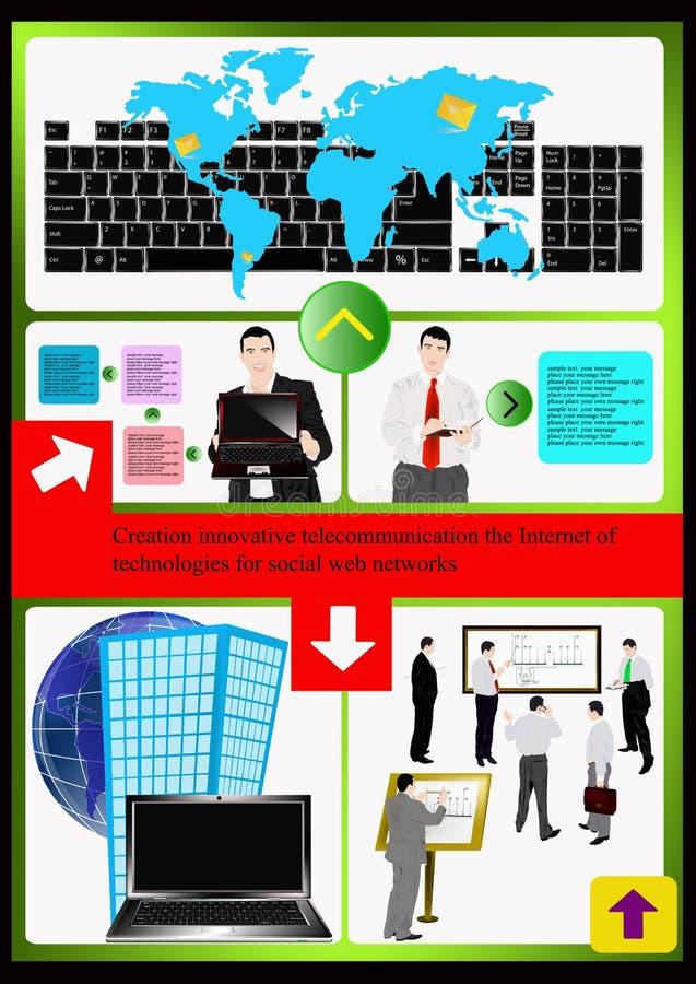 Le site Web de technologies d'Internet. Vecteur illustration de vecteur