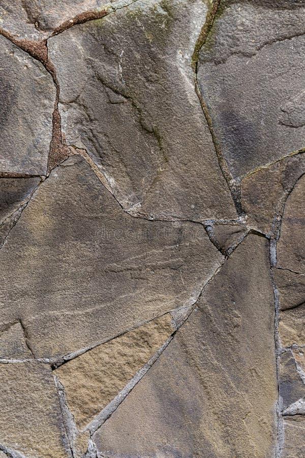 Le site Web dur urbain de conception de fond de base de tissu gris de mur en pierre a fendu des lignes superficielles par les age image stock