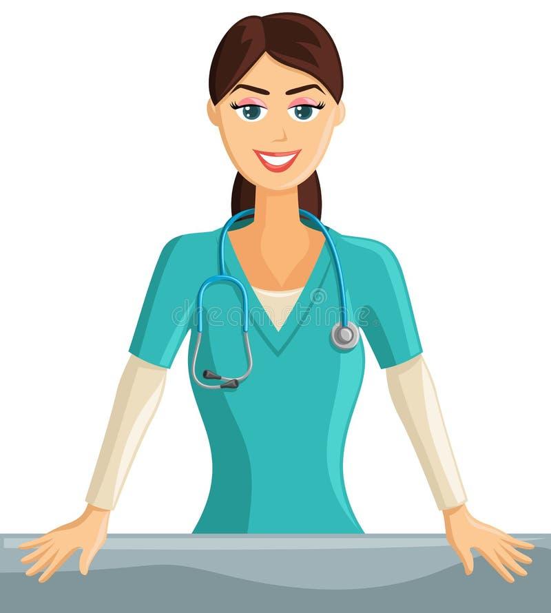 Le sjuksköterska royaltyfri illustrationer