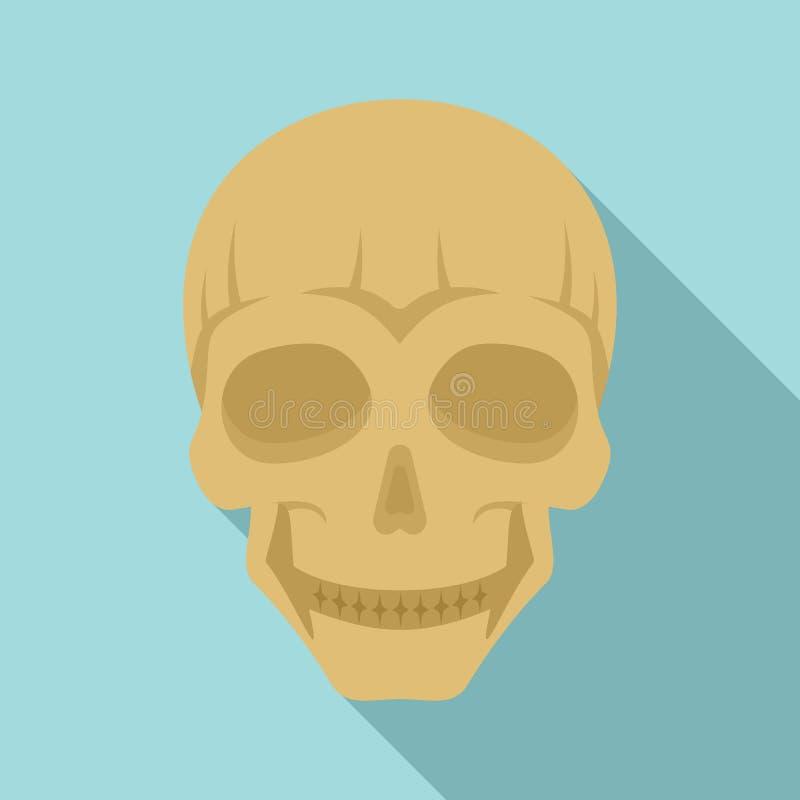 Le skallehuvudsymbolen, plan stil royaltyfri illustrationer